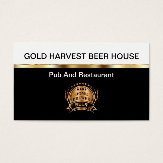 Restaurant And Pub Business Cards