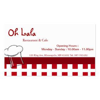 Restaurant Cafe Business Card