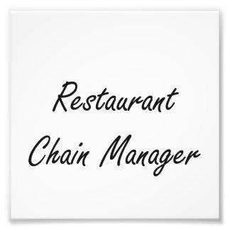 Restaurant Chain Manager Artistic Job Design Photo Print