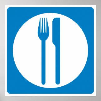 Restaurant Highway Sign Poster