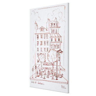 Restaurant on Boulevard | Saint-Germain, Paris Canvas Print
