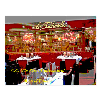 Restaurant shopping mall H2O of Rivas vaciamad Postcard