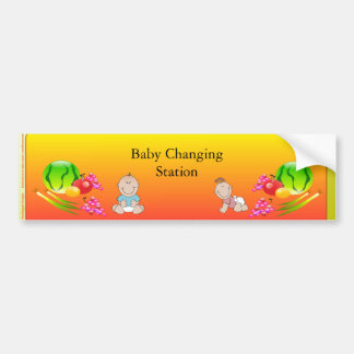 Restaurant Supplies, Baby Changing Station Sticker Bumper Sticker