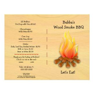 Restaurant Supplies  BBQ Menu 21.5 Cm X 28 Cm Flyer