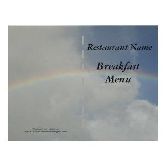 Restaurant supplies Breakfast Menu Rainbow Full Color Flyer