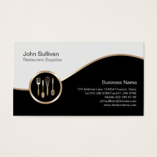 Restaurant Supplies Business Card Utensils Icon