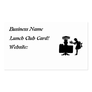 Restaurant Supplies Business Cards  Lunch Club Car