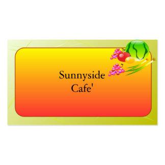 Restaurant Supplies Business Cards Sunnyside