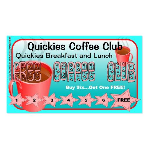 Restaurant Supplies FREE Coffee Club Card 2 Business Card Templates