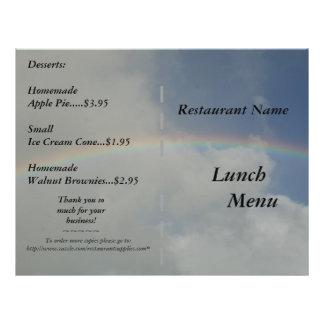 Restaurant Supplies Lunch Menus Rainbow 21.5 Cm X 28 Cm Flyer