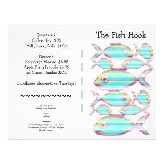 Restaurant Supplies Menu Pack Seafood 21.5 Cm X 28 Cm Flyer