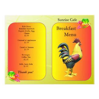 Restaurant Supplies, Sunnyside Breakfast Rooster 21.5 Cm X 28 Cm Flyer