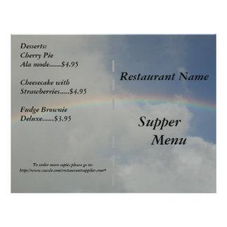 Restaurant Supplies Supper Menu Rainbow Designs 21.5 Cm X 28 Cm Flyer