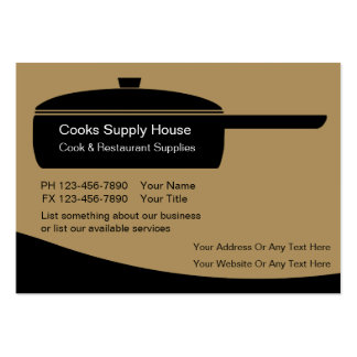Restaurant Supply Business Cards