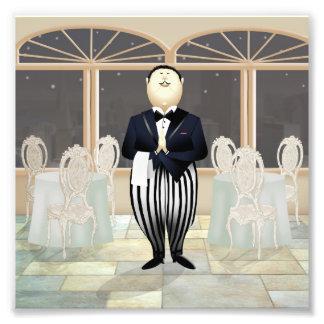 Restaurant Waiter Photo Print