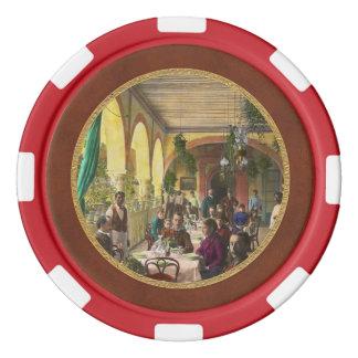 Restaurant - Waiting for service - 1890 Set Of Poker Chips