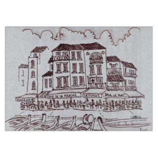 Restaurants Waterfront   Cassis, France Cutting Board