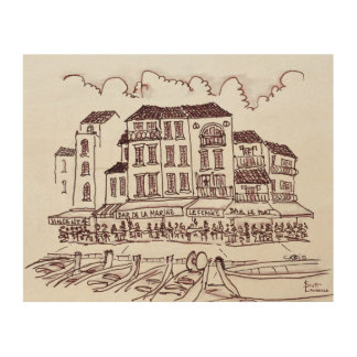 Restaurants Waterfront | Cassis, France Wood Wall Decor