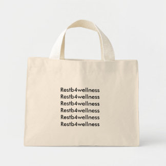 Restb4wellness Tiny Tote Mini Tote Bag