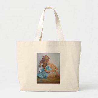 resting ballet dancer cinderella jumbo tote bag