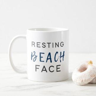 Resting Beach Face Coffee Mug