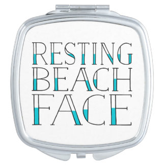 Resting Beach Face | Funny Summer Mirror For Makeup