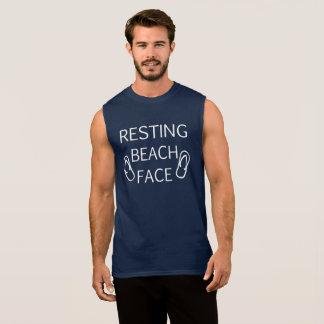 Resting Beach Face Summer Beach Fun Tshirt