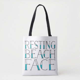 Resting Beach Face Summer Tote Bag