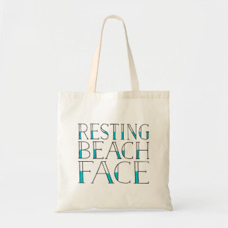 Resting Beach Face | Summer Typography Budget Tote Bag