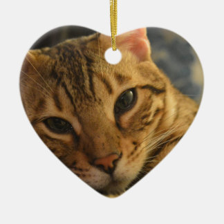 Resting Bengal Christmas Ornament