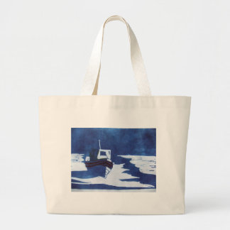 resting boat tote bags