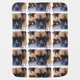 Resting Boxer Dog Baby Blanket