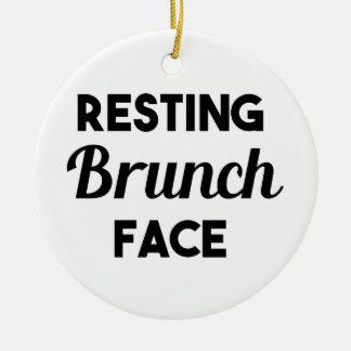 Resting Brunch Face Christmas Ornament