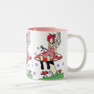 Resting Fairy Two-Tone Coffee Mug