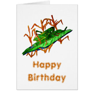 Resting Grasshopper Card