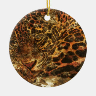 Resting Leopard Christmas Ornament