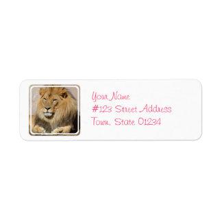 Resting Lion Return Address Label