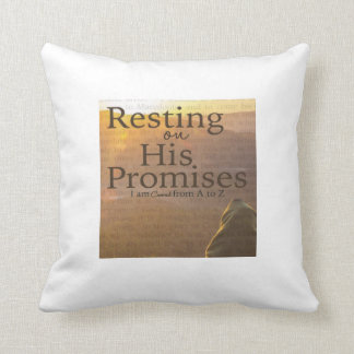 """""""Resting On His Promises Throw Pillow"""" Cushion"""