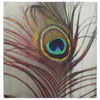 Resting Peacock Feather Napkin