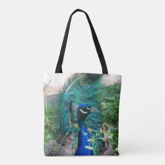 Resting Peacock Tote Bag