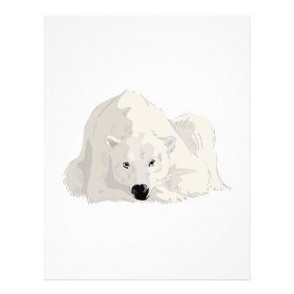 resting polar bear personalized flyer