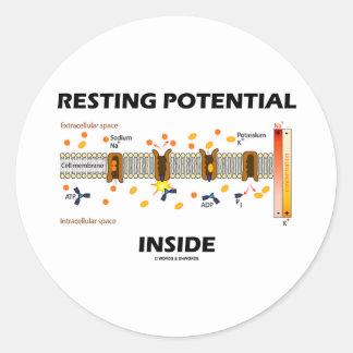 Resting Potential Inside (Sodium-Potassium Pump) Round Stickers