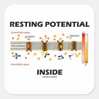 Resting Potential Inside (Sodium-Potassium Pump) Square Sticker