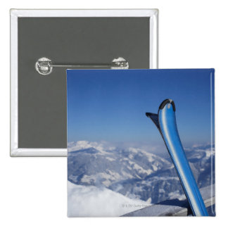 Resting Skis 15 Cm Square Badge