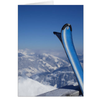 Resting Skis Card