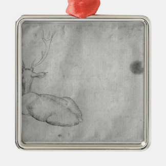 Resting stag christmas ornament