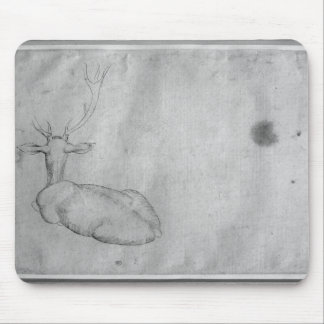 Resting stag mouse mat