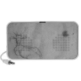 Resting stag speaker system