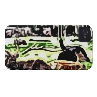 resting wild animals painting Case-Mate iPhone 4 case