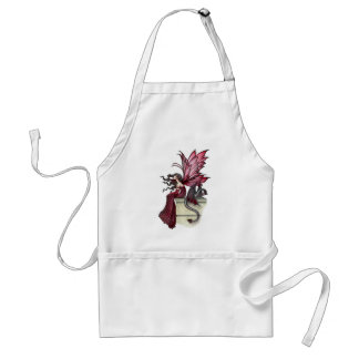 Restless Ruby Gothic Red Fairy and Dragon Standard Apron